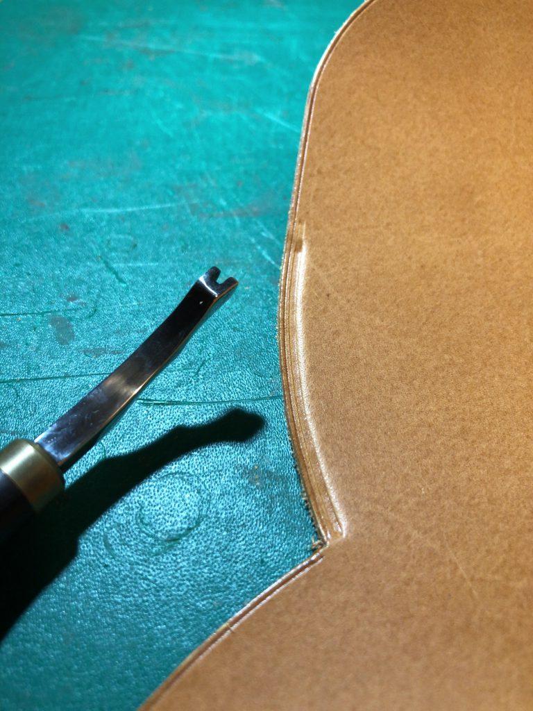 【レザークラフトブログ】メガネケースの製作過程紹介08