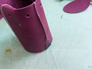 レザークラフトミニバッグの作り方2